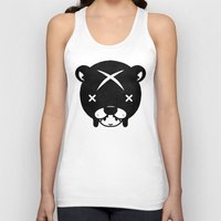 suit Tank Tops featuring Bear Suit by Terry Mack