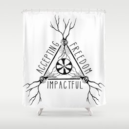 ACCEPTING - FREEDOM - IMPACTFUL Shower Curtain
