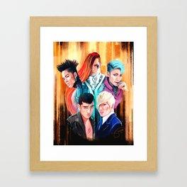 Fantastic Five Framed Art Print