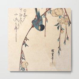 Blue Chickadee Metal Print
