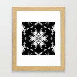 Black and White Kaleidoscope Framed Art Print