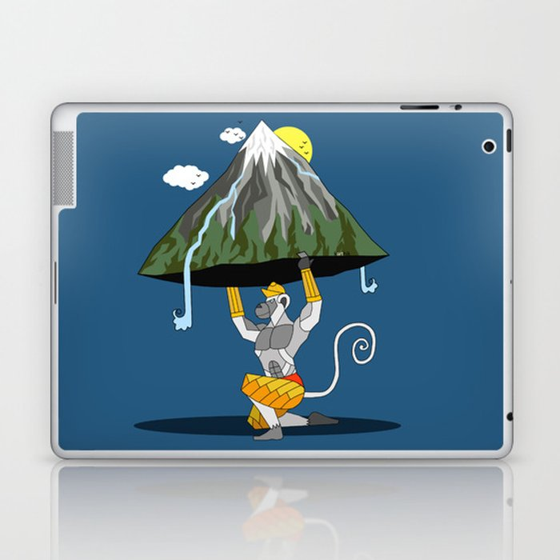 Hanuman & The Mountain Laptop & iPad Skin