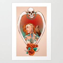 Suicide Raven Art Print
