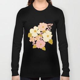 Pink Pastel Vintage Floral Pattern Langarmshirt