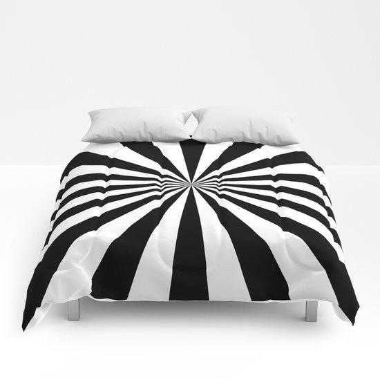 Starburst (Black/White) Comforters
