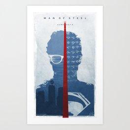 MAN OF STEEL 2013 (EL HOMBRE DE ACERO) inspired poster. Art Print