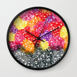 Let Color Fill Your Life Wall Clock