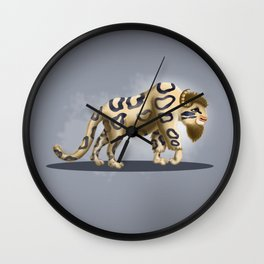 Bison Leopard Wall Clock