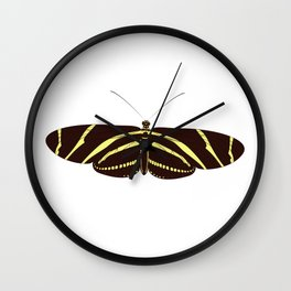 Heliconius charithonia - Zebra Longwing Butterfly Wall Clock