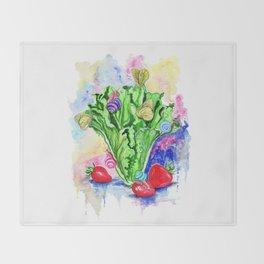Lettuce love Throw Blanket