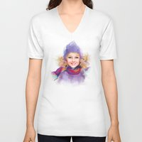 sport V-neck T-shirts featuring sport by tatiana-teni
