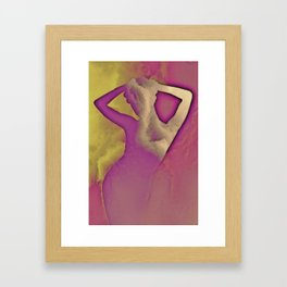 SHAPES IN THE CLOUDS Framed Art Print