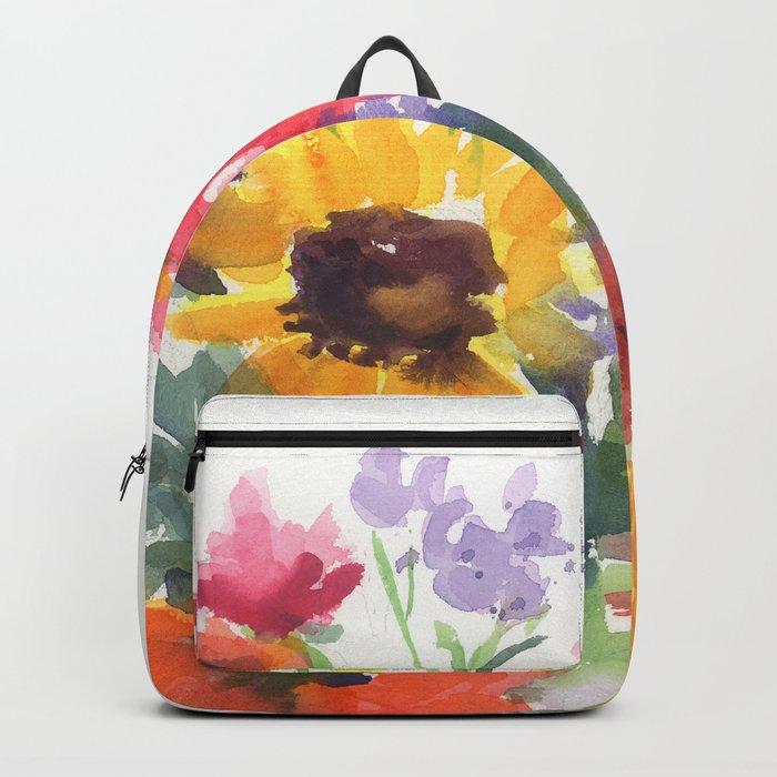 Sunny Summer Sunflowers Rucksack