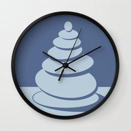 Digital Zen art-balance of a stack of stones Wall Clock