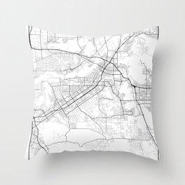 Minimal City Maps - Map Of Riverside, California, United States Throw Pillow