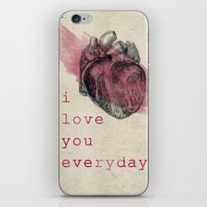 i_love_you_everyday iPhone & iPod Skin