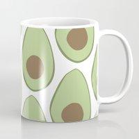 avocado Mugs featuring Avocado by LEIGH ANNE BRADER