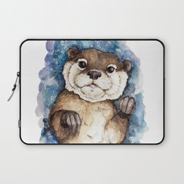 Watercolor Otter Laptop Sleeve