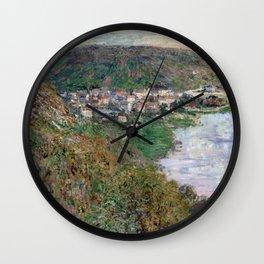 1880-Claude Monet-View of Vétheuil-65 x 81 Wall Clock