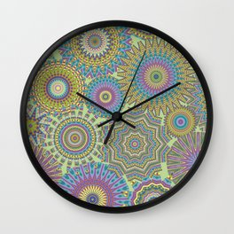 Kaleidoscopic-Jardin colorway Wall Clock