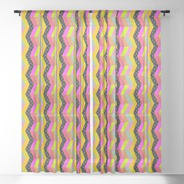 colorful pattern and ufo 1 Sheer Curtain