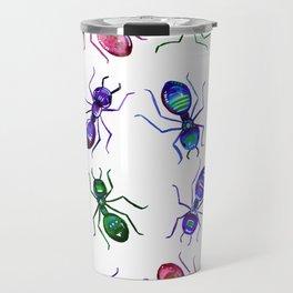 Ants - Bright watercolor painting Travel Mug