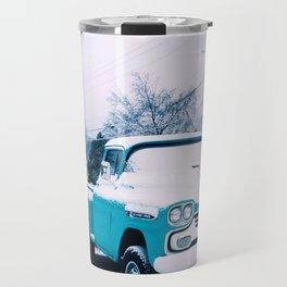 Blue Snow Travel Mug