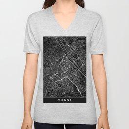 Vienna Black Map Unisex V-Neck