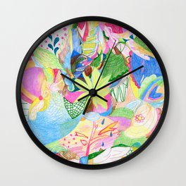 Looking for Flowers Wall Clock