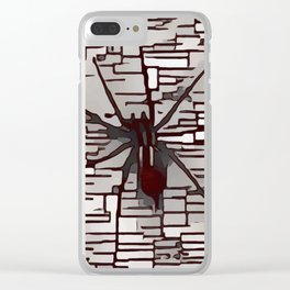 Friendly Pet Spider Clear iPhone Case