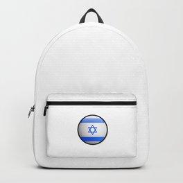 Israeli Flag Emoji Funny Emoji Flag Pride Cool Pun Design Gift Humor Backpack