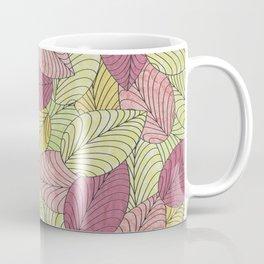 Vector Seamless Leaves Pattern Coffee Mug