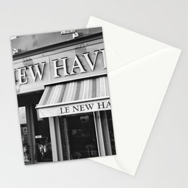 Le New Haven Restaurant - Black and White Version Stationery Cards