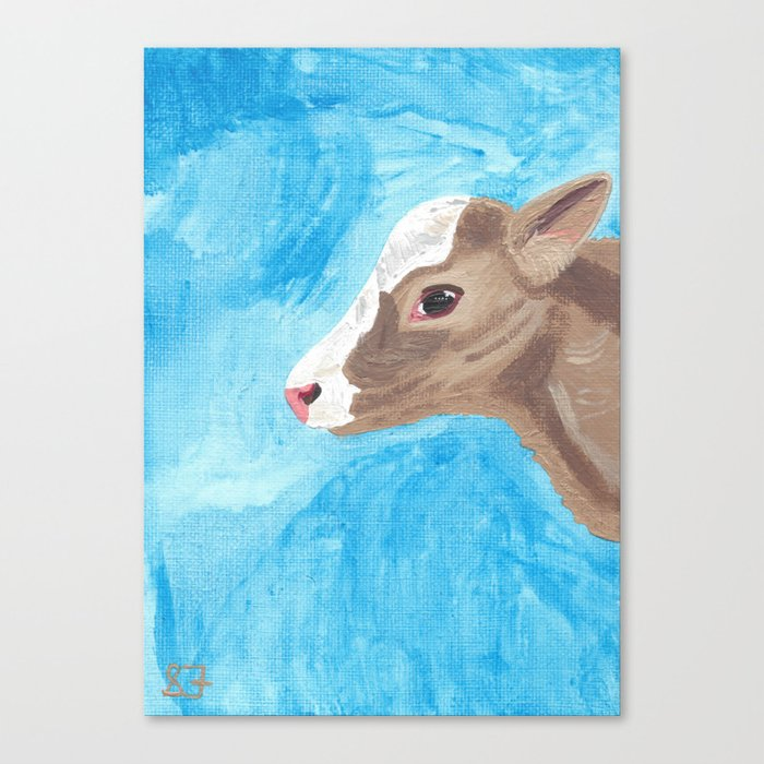 A Heifer Calf Named Keely Canvas Print