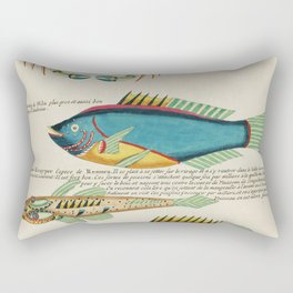 Colourful and surreal s of fishes and crab found in Moluccas (Indonesia) and the East Indies by Loui Rectangular Pillow