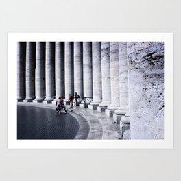Vatican Pillars Art Print