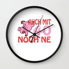 "A German Piggy Birthday Tee For Pig Lovers ""Auch Mit 40 Noch Ne Geile Sau"" T-shirt Animals Pork Meat Wall Clock"