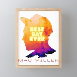 MAC MILLER---BEST DAY EVER Framed Mini Art Print