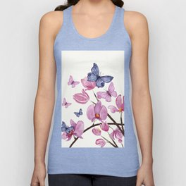 Flowers and butterflies Unisex Tank Top