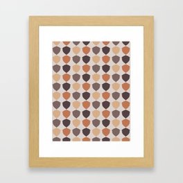 Fall Acorns Framed Art Print