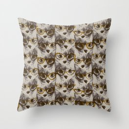 Catseye glasses Throw Pillow