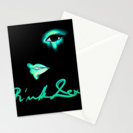 Pink Lexi Electric Teal Stationery Cards