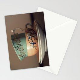 Golden Leaves Teacup Stationery Cards