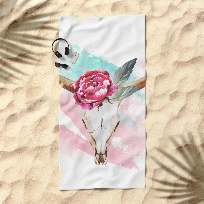 Animal Skull 05 Beach Towel