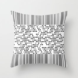 Monochrome line art Throw Pillow