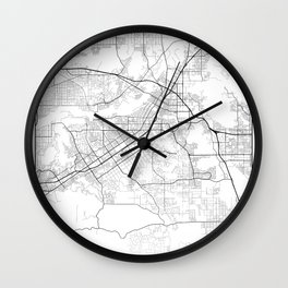 Minimal City Maps - Map Of Riverside, California, United States Wall Clock