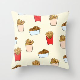 Gimme Fries Throw Pillow