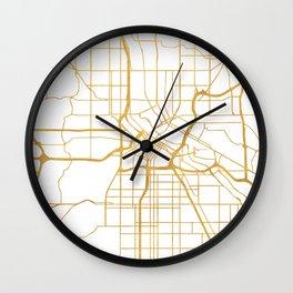 MINNEAPOLIS MINNESOTA CITY STREET MAP ART Wall Clock