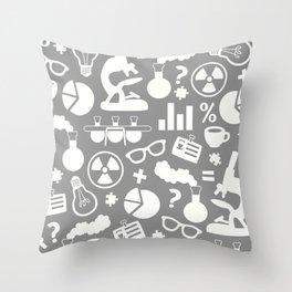 Grey Scientist Throw Pillow