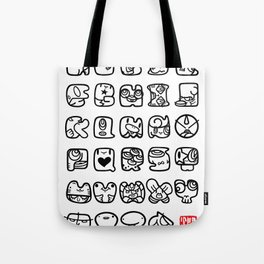 ABC / white & black Tote Bag